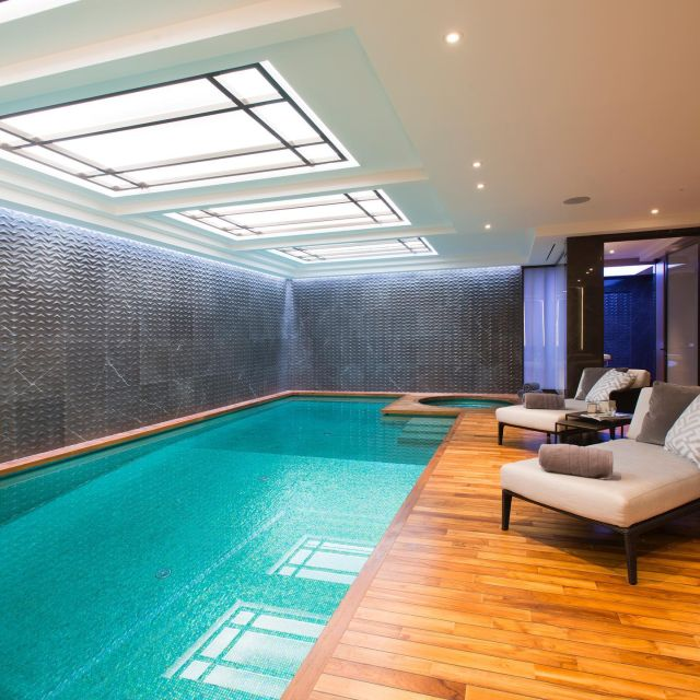 This Belgravia private pool and spa is just where we'd like to be on a cold winter's day. Cyril Leonard project managed this substantial 10,000 sq ft residential scheme on @grosvenor_europe Eaton Square, working with a fantastic team including @purcell.architecture @wish_london @michael_barclay_partnership @ideaworksgroup and @walterlilly1924 who kindly shared their photos. #pool #swimmingpool #spa #londonlife #belgravia #eatonsquare #grosvenor